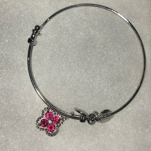 Angelica Red Pink Stone Sterling Sliver bracelet